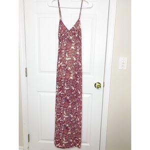 Forever 21 paisley boho maxi dress size medium